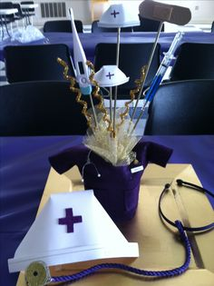 Center pieces for a nurse graduation party