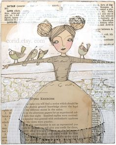 mixed media collage inspiration - Cori Dantini