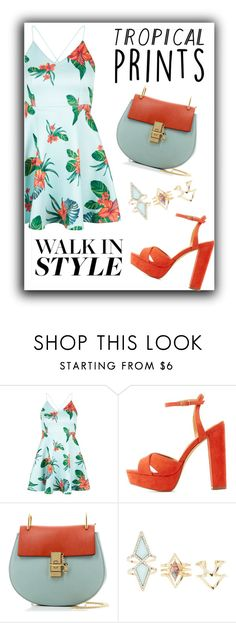 """""""tropical blue"""" by ririmar on Polyvore featuring New Look, Charlotte Russe, Chloé, tropicalprints and hottropics"""