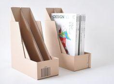 amazonのダンボール箱でつくるA4ファイルケース2【マゴクラ】ダンボールインテリア生活 Corrugated paper DIY