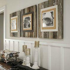 Reused wood frames