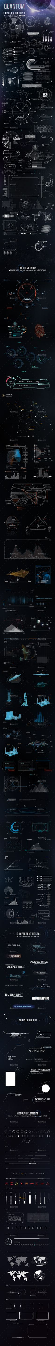 Buy Quantum - HiTech HUD Creator Kit by Pixflow on GraphicRiver. With this file you will get more than 250 modular HiTech HUD Elements, So you can literally create infinite possibil. Game Design, Graphisches Design, Cv Inspiration, Graphic Design Inspiration, Futuristic Design, Ui Web, User Interface Design, Infographic Templates, Data Visualization