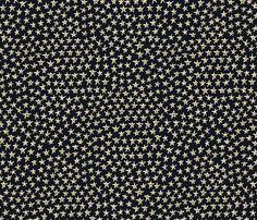 tiny gold stars fabric by weavingmajor on Spoonflower - custom fabric