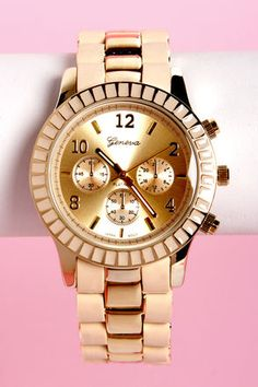 On Your Side Beige and Gold WatchLove it!