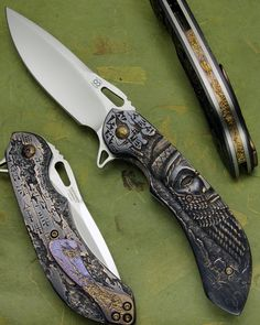 Knife Pic of the Day: The King Sargon from Olamic Cutlery features stunning, handmade bronze scales.