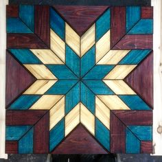 Wooden Barn, Wooden Wall Art, Diy Wall Art, Wood Art, Quilt Square Patterns, Barn Quilt Patterns, Square Quilt, Block Patterns, Barn Quilt Designs