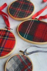 Plaid Ornaments