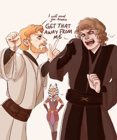 Sometimes, Obi-wan gets tired of Anakin's whining part 2 part 1