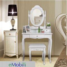 SEA108 - Set masa + scaun + oglinda, toaleta cosmetica machiaj - transport gratuit cu verificare #eMobili