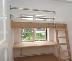Mezzanine bed - Inspirational Loft Beds for Your Lovely House Our Bright Side Bunk Beds Small Room, Cool Bunk Beds, Kids Bunk Beds, Lofted Beds, Bed Rooms, Mezzanine Bedroom, Bedroom Loft, Loft Room, Diy Bed Loft