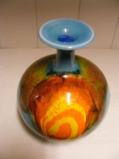 Blue Hutschenreuther vase by RetroVases on Etsy