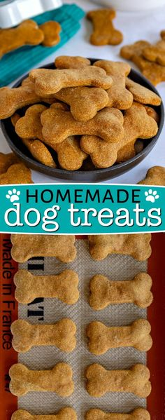 These Homemade Dog Treats are made with peanut butter and pumpkin and are sure to be a hit! This easy recipe is made in one bowl with just 5 ingredients - simple and delicious! // Mom On Timeout dog treats peanut butter Homemade Dog Treats Homemade Dog Cookies, Homemade Dog Food, Dog Cookies Recipe Peanut Butter, Peanut Butter Dog Biscuits, Homemade Doggie Treats, Cookies For Dogs, Diy Dog Treats, Chip Cookies, Easy Dog Treat Recipes