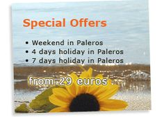Special offers from Paleros Travel