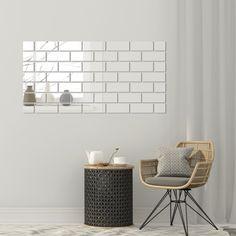 Moderné zrkadlá v tvare tehlovej steny Cos, Glamour