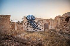 Djerbahood / Fun New Murals by ROA Utilize Tunisias Domed Architecture Tunisia street art murals