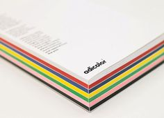 Printed SpineThe striped spine aligns with the seven coloured sections