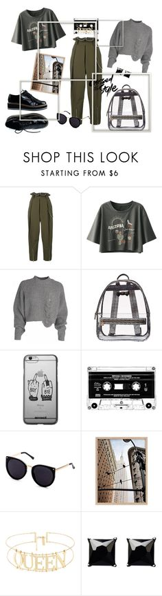 """Waiting for Fall"" by annaruto ❤ liked on Polyvore featuring Alexander Wang, Betsey Johnson, Witchery, black, shoes, grey, militarygreen and meninspired"