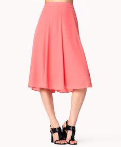 Chiffon A-Line Skirt | LOVE21 - 2022152556