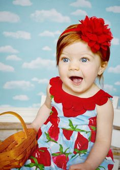 4th of July Headband Red Baby Headband Baby door SweetEllasBoutique, $10.25