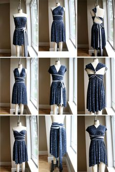 Add piping or lining to straps on multi-wrap dress... with all the strapless dresses out there I would love to ba able to add straps