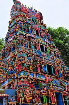 Sri Maramma Temple, #Bangalore, #India Places Around The World, Oh The Places You'll Go, Places To Visit, Around The Worlds, Wonderful Places, Beautiful Places, Bangalore India, Hindu Temple, Indian Temple
