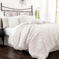 4 Piece Como Comforter Set in Ivory