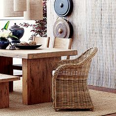 Inexpensive Wicker Arm Chair From World Market!