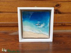 Művészgyanta kép, mini kép, tenger festmény (NaxaDesign) - Meska.hu