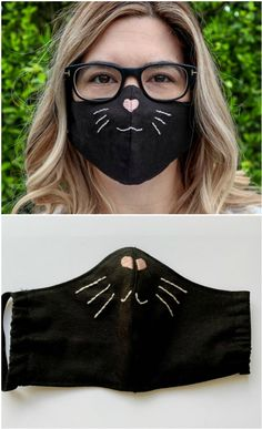 Face Masks - A Roundup Of Our Favorites - The WHOot - Best Picture For diy face mask sewing pattern For Your Taste You are looking for something, and i - Animal Face Mask, Cat Face Mask, Funny Face Mask, Animal Faces, Face Masks For Kids, Easy Face Masks, Mouth Mask Fashion, Fashion Face Mask, Avocado Face Mask