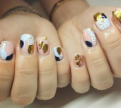 The Secrets of Healthy Nails. Many people assume that the secret to having strong, healthy nails is the way you care for them. Perfect Nails, Gorgeous Nails, Pretty Nails, Foil Nail Art, Foil Nails, Nails With Foil, Minimalist Nails, Nail Art Abstrait, Nail Art Designs