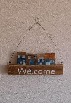 """Tür- & Namensschilder - Treibholz Türschild """"Welcome"""" - ein Designerstück von treibholz-insulanerin bei DaWanda"""