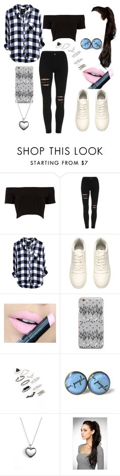 """Untitled #595"" by leftorright ❤ liked on Polyvore featuring H&M, Fiebiger, Topshop and Pandora"