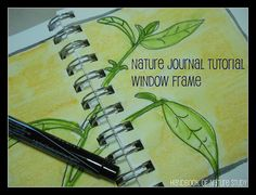 Nature journal tutorial on my blog @HBNatureStudy. Window Frame design.