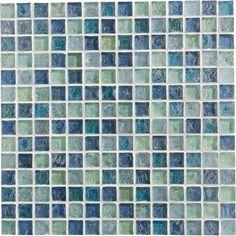 Mosaïque Ice flou, turquoise, 2x2 cm   Leroy Merlin