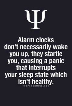 Alarms are unhealthy