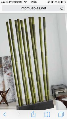 Cañas Jungle Room, Bamboo Furniture, Inside Design, Home Decor Accessories, Cool Designs, Diy Projects, Bamboo Decoration, Jeep Grill, Room Dividers
