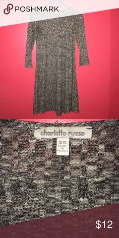 Grey Sweater Dress Can be worn as a winter or summer dress, it's as good as new, size is xs but can fit a small Charlotte Russe Dresses Mini