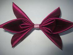Как сделать бантик из ленты для волос. How to make a hair bow - YouTube