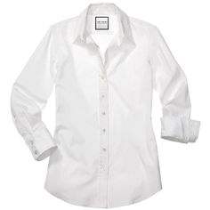 The Shirt by Rochelle Behrens The 3/4 Sleeve Essentials Icon Shirt (£60) ❤ liked on Polyvore featuring tops, blouses, shirts, white, women tops, 3/4 sleeve button down shirt, white shirt, white 3/4 sleeve shirt, 3/4 sleeve blouse and 3/4 sleeve tops