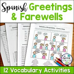 75 best greetings and farewells images on pinterest spanish saludos y despedidas greetings and farewells spanish vocabulary activities m4hsunfo