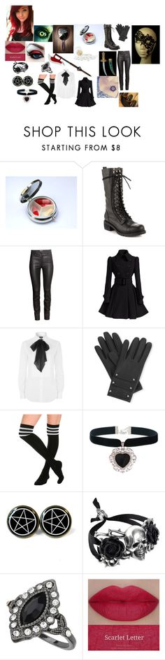 """""""Alysse The New Shinigami (Black Butler)"""" by morfeoandpan ❤ liked on Polyvore featuring Kelsi Dagger Brooklyn, H&M, Polo Ralph Lauren, Causse, Rock 'N Rose, Miss Selfridge and Masquerade"""