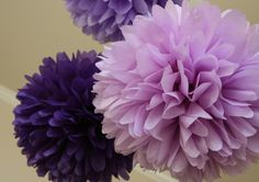 purple shower centerpieces | ... / Bridal Shower / Baby Shower / Birthday / Party Decoration / DIY