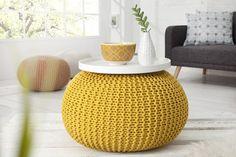 PUFA WOLLE BALL LEEDS yellow 37319 invicta interior planeta - MEBLE NOWOCZESNE - Planeta Design MEBLE DEKORACJE DESIGNERSKIE NOWOCZESNE KARE INVICTA INTERIOR wysyłka w 48h