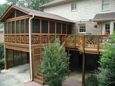 Archadeck of the Piedmont Triad pays special attention to every detail of your screened porch design, including screening the area under the floor.