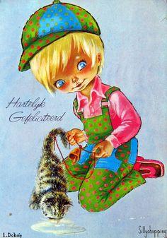 Vintage Big Eyed Postcard | by L.Dobón | Sillyshopping | Flickr