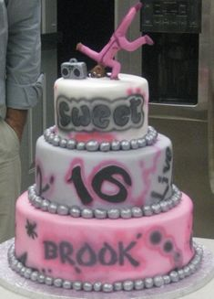 Airbrushed, Hip Hop, Break Dancing Cake!