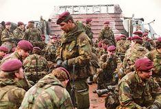 British paratroopers, The falklands war