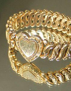 Victorian GF Sweetheart Expandable Bracelet American Queen Pitmann Keller | eBay