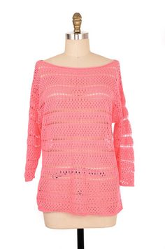 Eight Eight Eight Pink Crochet Top Size L | ClosetDash #fashion #style #tops #blouse