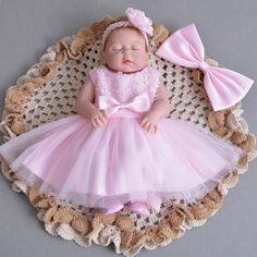 Cheap christening gowns, Buy Quality baby girl princess dress directly from China baby girl princess Suppliers: Retail Baby Girls Princess Dresses Thin Rose Christening Gown With Headband Infant Birthday Party Baptism Kids Clothes Pink Princess Dress, Baby Girl Princess, Pink Dress, Dress Lace, Princess Wedding, Christening Gowns Girls, Baptism Dress, Baby Christening, Girl Baptism
